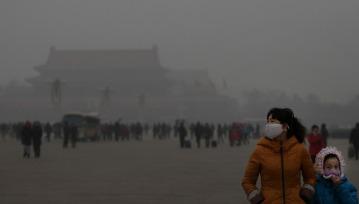 視界が酷く悪くなるほどの北京のスモッグ