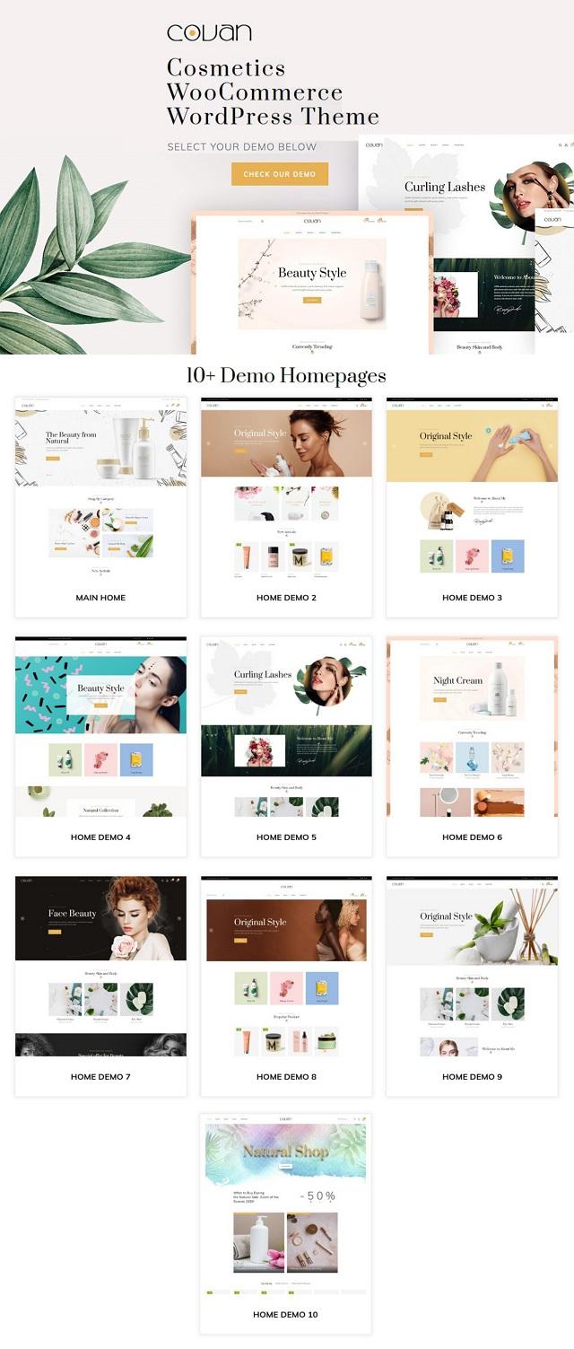 Cosmetics WooCommerce WordPress Theme