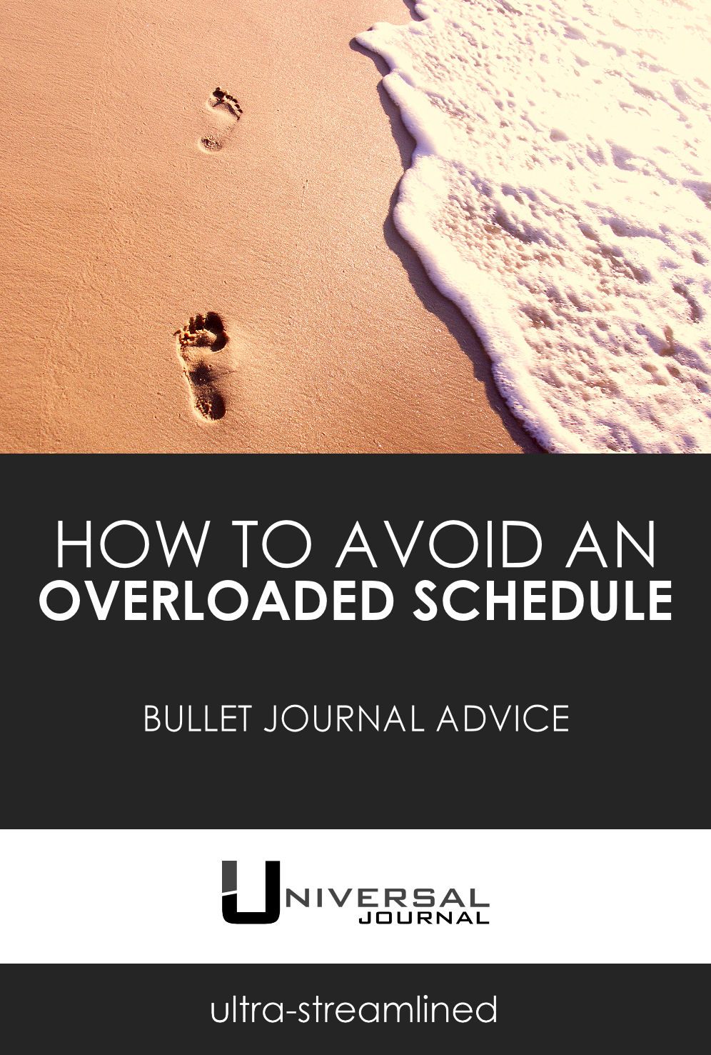 bullet journal avoid overloaded schedule
