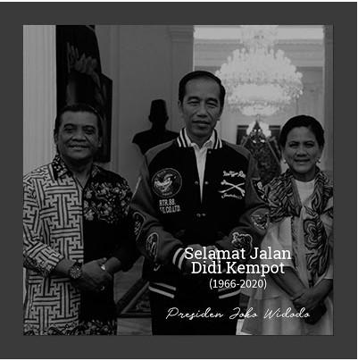 Presiden Joko Widodo (Jokowi) turut berduka atas kepergian penyanyi campursari Didi Kempot. Jokowi bercerita sempat menyaksikan konser terakhir Didi terkait penggalangan dana untuk penanganan COVID-19.