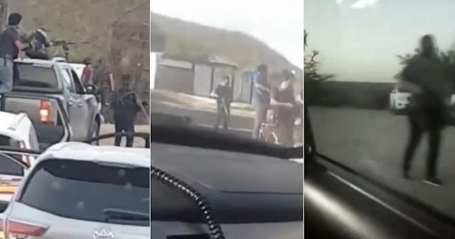"""VIDEOS; """"Vamos a echar plomo, viejo''. A ritmo de banda, comandos recorren poblados de Sinaloa"""