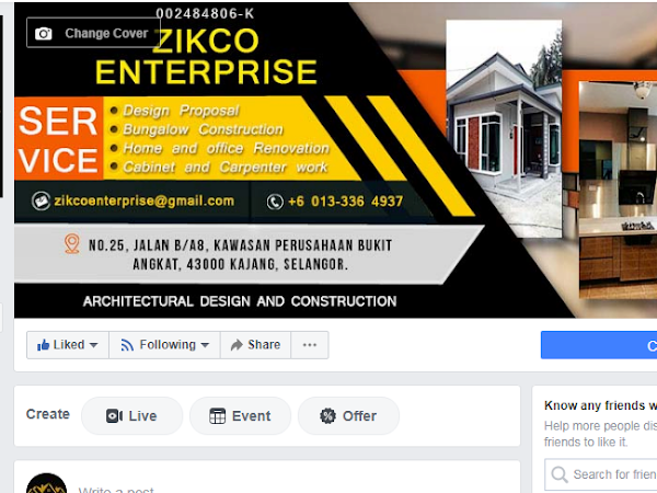 Zikco Kabinet dan Kontraktor Binaan Class A Selangor Darul Ehsan
