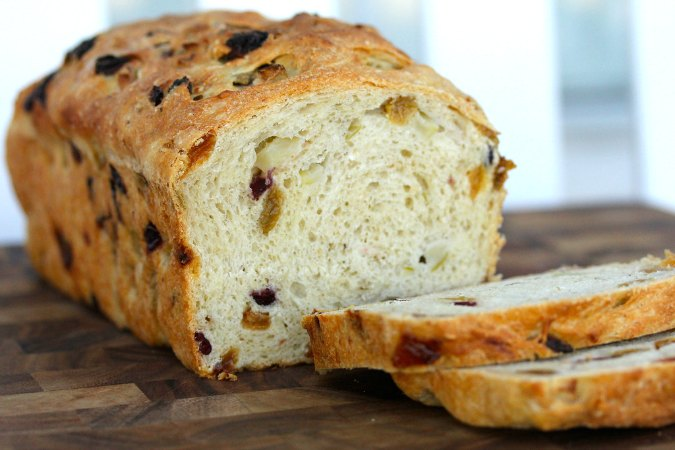 Sourdough Apple Bread Loaf sliced