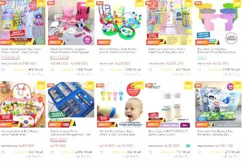 rekomendasi toko perlengkapan bayi di shopee