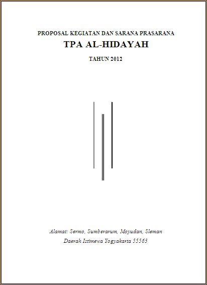 Tpa Al Hidayah Contoh Proposal Permohonan Bantuan Dana