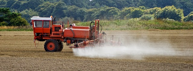Photo of crop spraying