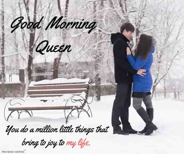 romantic good morning queen msg