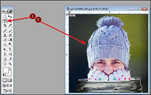 Image ko select kare magnetic tool se