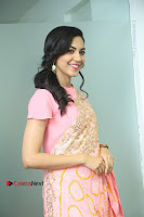 Actress Ritu Varma Pos in Beautiful Pink Anarkali Dress at at Keshava Movie Interview .COM 0176.JPG
