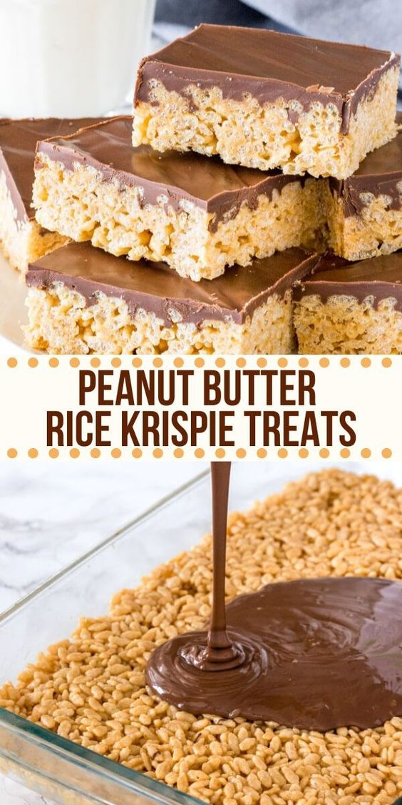 Best Peanut Butter Rice Krispie Treats