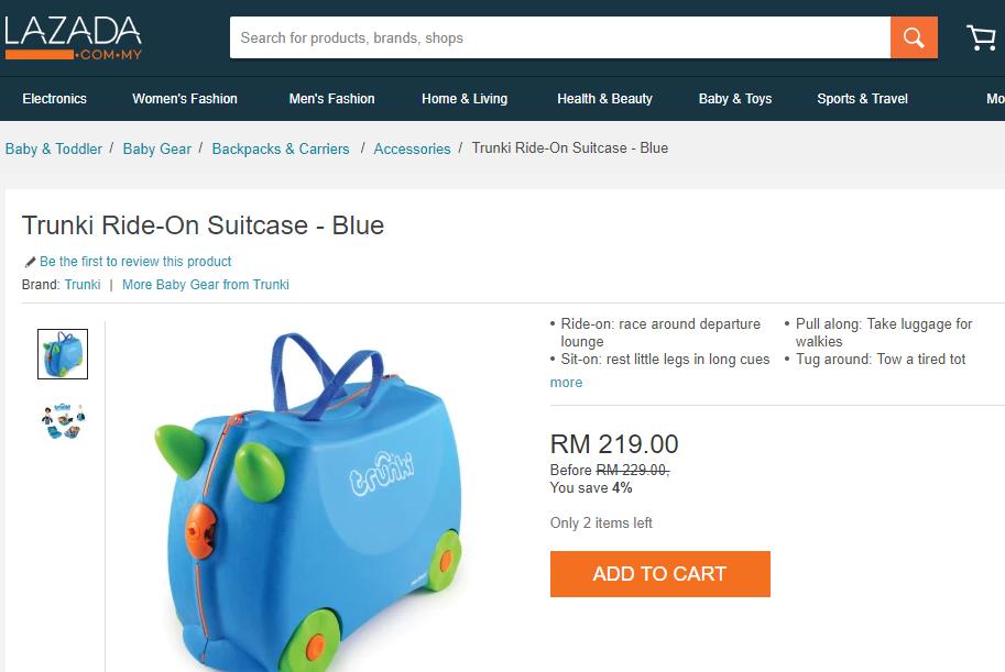 Dapat Tebus Trunki Ride-On Suitcase Hasil Kumpul Mata Ganjaran Drypers Selama Setahun Setengah