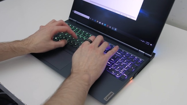 The Legion 7i Gaming laptop has pretty nice tactile feedback, thanks to the decent key travel of 1.3mm distance when pressed.