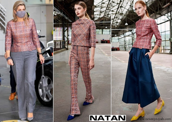 Queen Maxima wore Natan multicolor Top from FW19 Collection