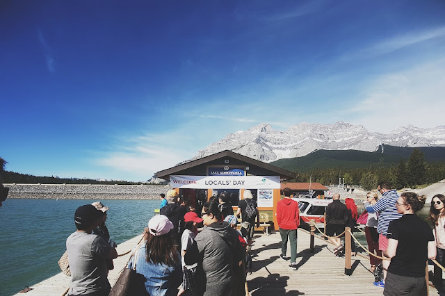 Locals' Appreciation Day at Lake Minnewanka, Banff National Park, Alberta, Canada