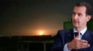 غارات إسرائيلية تستهدف مواقع النظام السوري في العاصمة دمشق (فيديو)