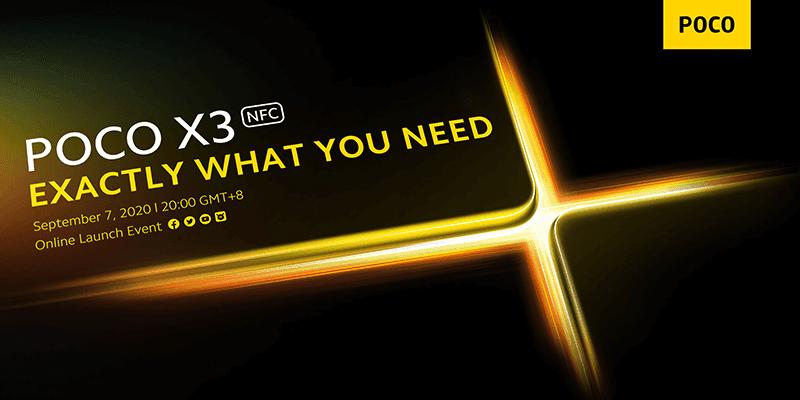 POCO X3 NFC invite