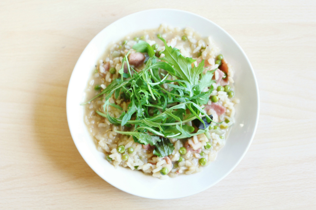 Lifestyle, Blogger, Uk, Food, Risotto, Diary, Bacon, Pea, Rocket, Healthy, Recipe,