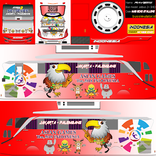 Download Livery Bus Asian Games Terbaru