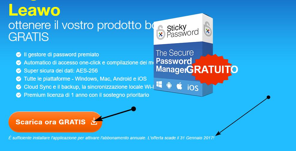 Sticky password gratis per un tempo limitato free tutto for Generatore di piano di pavimento online gratuito