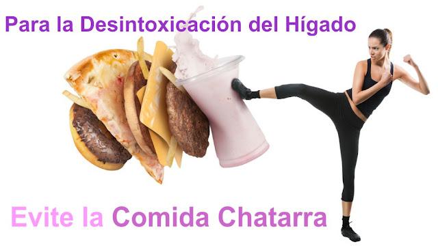 Para la desintoxicación del hígado evite la comida chatarra