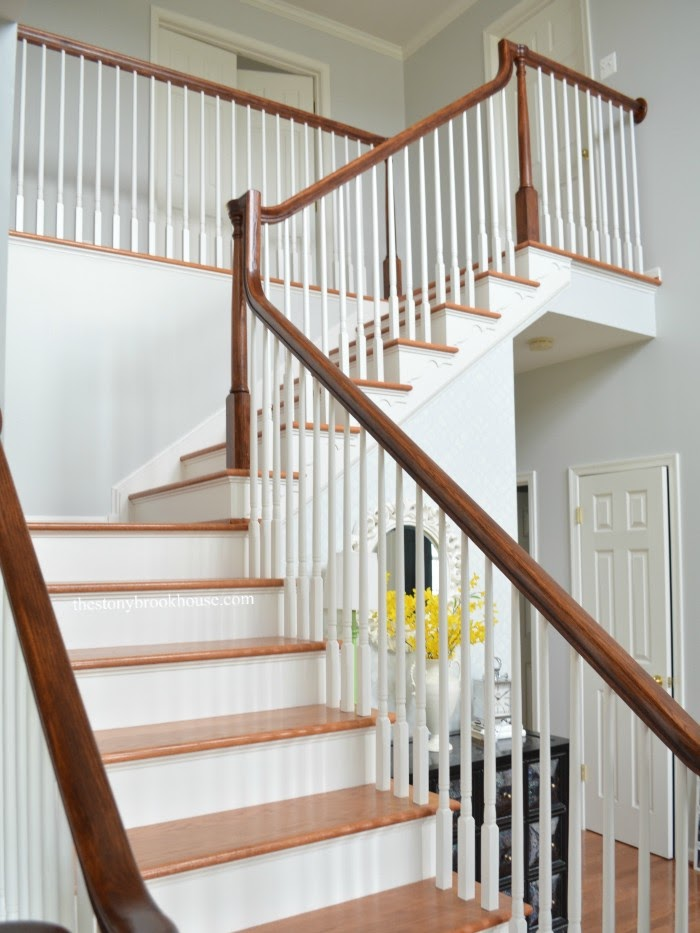 Staircase finished upper view