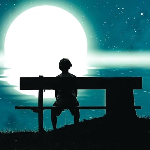 sad boy sitting alone at night DP for boys