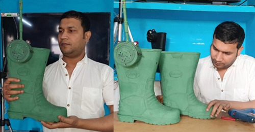 काशी के युवा वैज्ञानिक ने बनाया गोलियां चलाने वाला इंटेलिजेंस जूता, बॉर्डर पर रोकेगा घुसपैठ