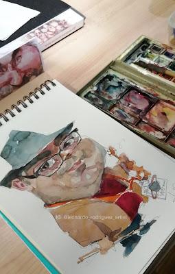 caricatura en vivo-leonardo rodriguez-illustration artist