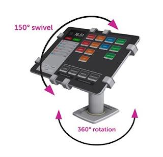 POS進銷存系統專用通用型平板電腦防盜架 (POS 360款),平板電腦展示防盜架