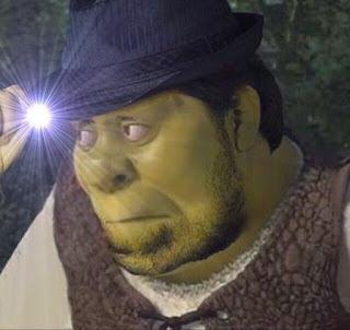 Lens Flare Fedora Shrek