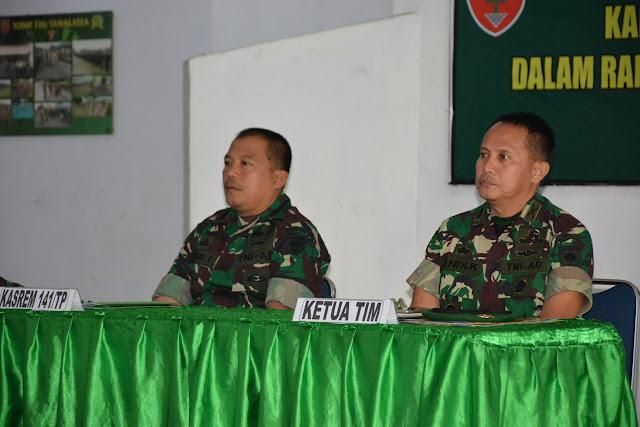 Laksanakan Program Kodam XIV/Hsn, Bimtek Kader TOT Tertib Administrasi Satjar Korem 141/Tp