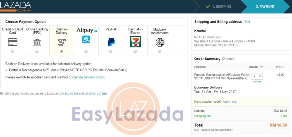 Shopping Secara Cash On Delivery Cod Di Lazada Malaysia