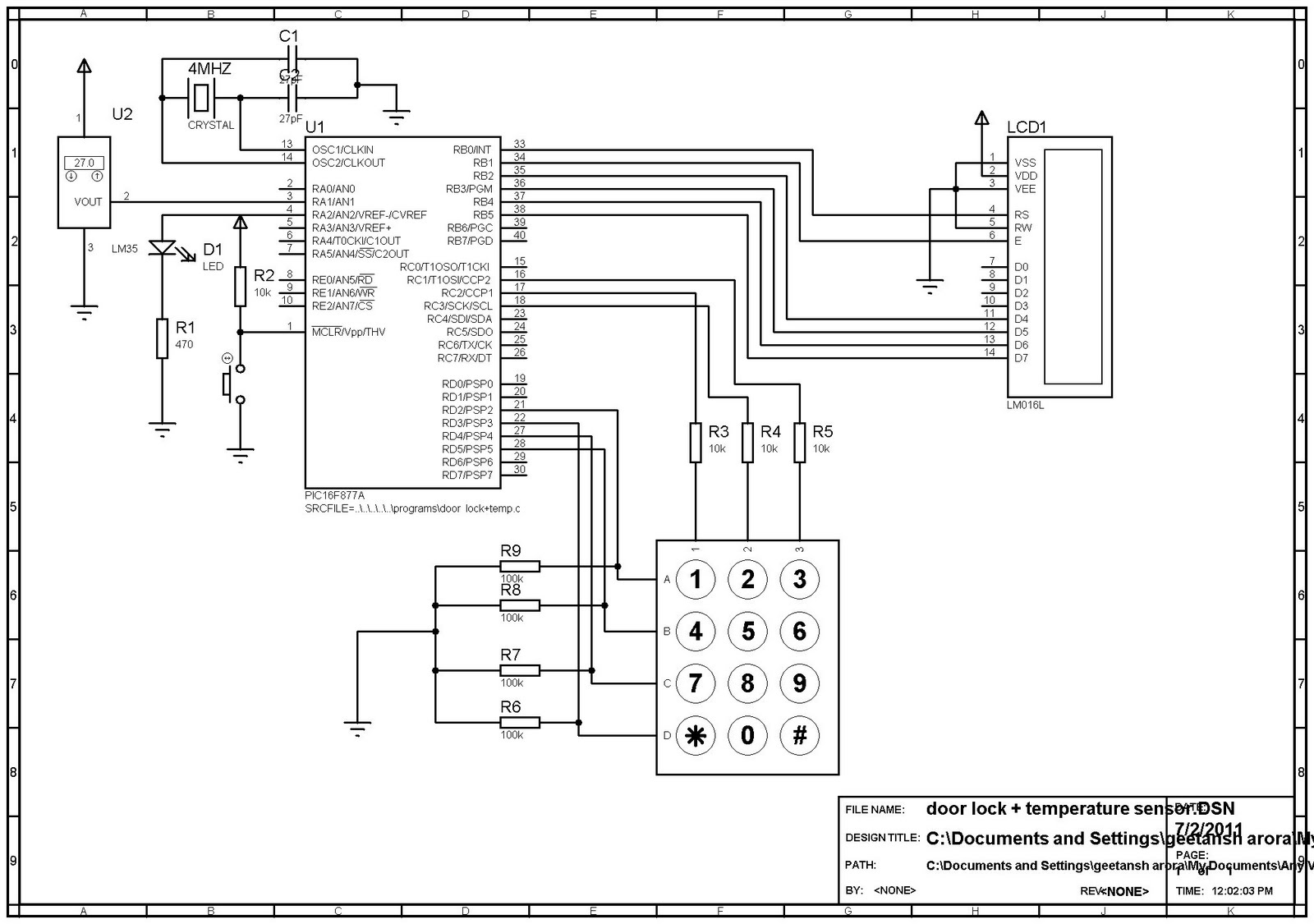 Hardware Hackerz Digital Clock With Code Lock
