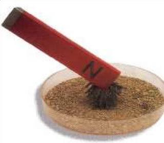 campuran antara serbuk besi dan butiran pasir