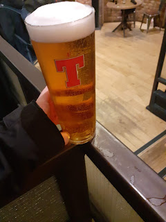 A pint of Tenants at Glasgow Central station