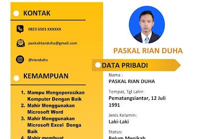 Download CV Lamaran Kerja Gratis Format Word (Docx) Mudah Edit | CV Yang Di Sukai HRD