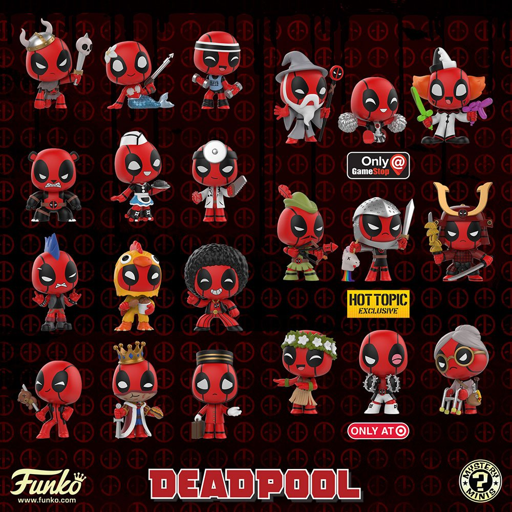 The Blot Says Deadpool In Costume Mystery Minis Blind