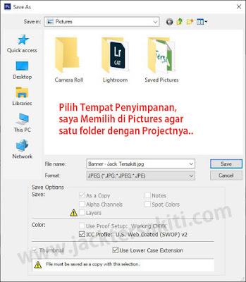 Menyimpan Gambar dengan Format JPEG di Adobe Photoshop