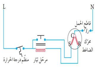 شرح توصيل الترموستات مع ضاغط الثلاجة