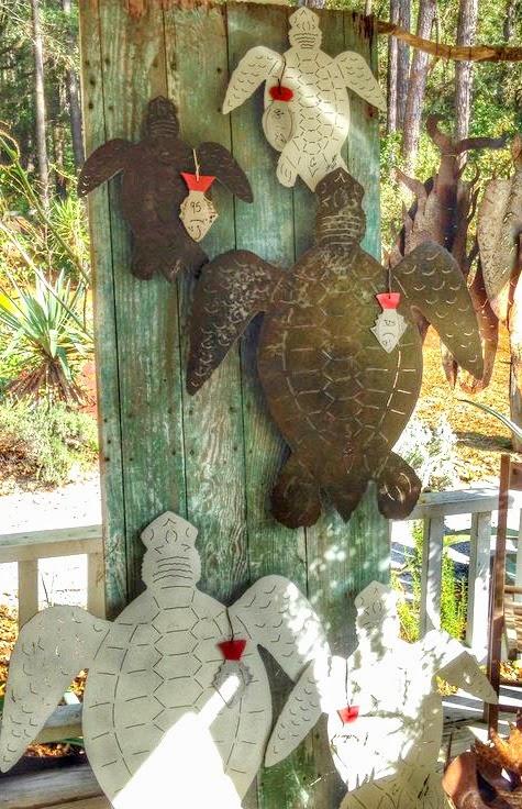 Simple Metal Sea Turtle Wall Scuptures
