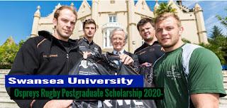 Ospreys Rugby Postgraduate Scholarship Swansea University