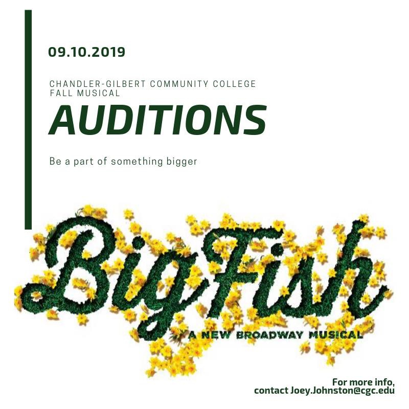 PHX Stages: audition notice - BIG FISH - Chandler-Gilbert