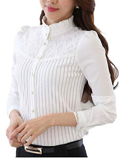 smile fish women's long sleeve blouse top