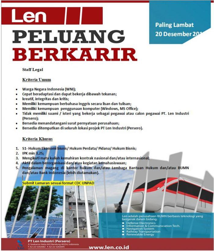 Lowongan Kerja Terbaru PT. Len Industri (Persero)