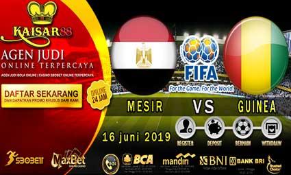 PREDIKSI BOLA TERPERCAYA MESIR VS GUINEA 16 JUNI 2019