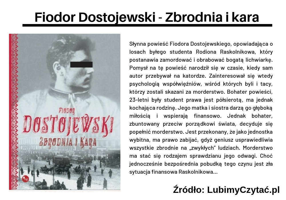 Fiodor Dostojewski - Zbrodnia i kara, Topki, Marzenie Literackie