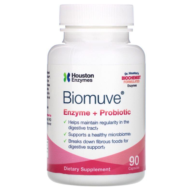 Houston Enzymes, Biomuve, Enzyme + Probiotic, 90 Capsules