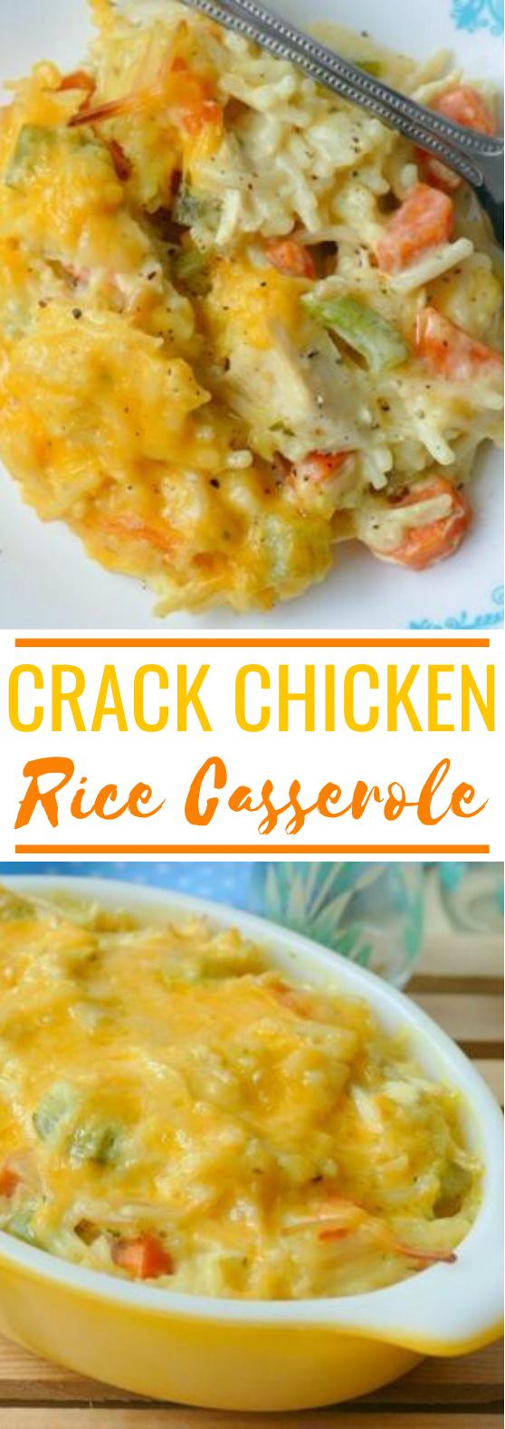 Crack Chicken and Rice Casserole #dinner #casserole #comfortfood #chicken #recipes
