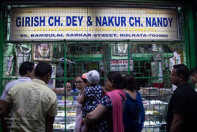 Girish Chandra Dey and Nakur Chandra Nandy sweet shop in kolkata