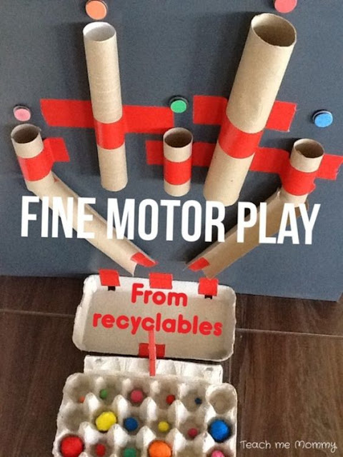 http://www.teach-me-mommy.com/2014/02/fine-motor-play-from-recyclables.html